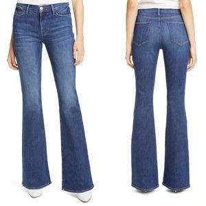 FRAME le high flare denim jeans 24